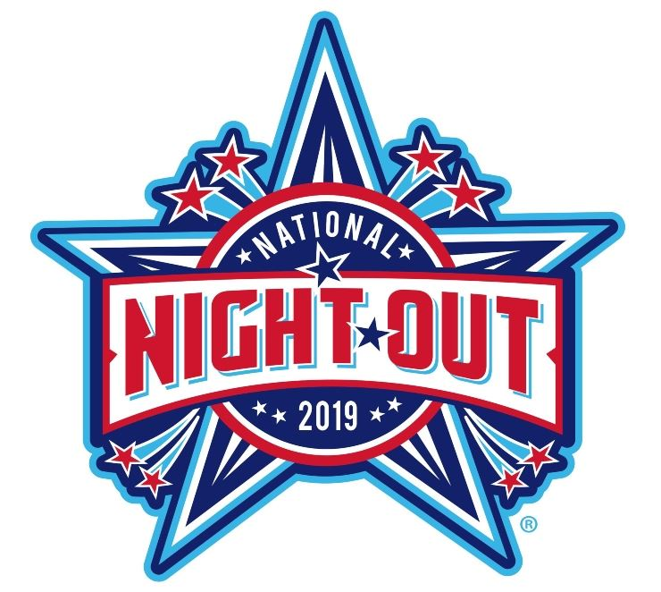 Red, White, and Blue Star Burst for National Night Out 2019