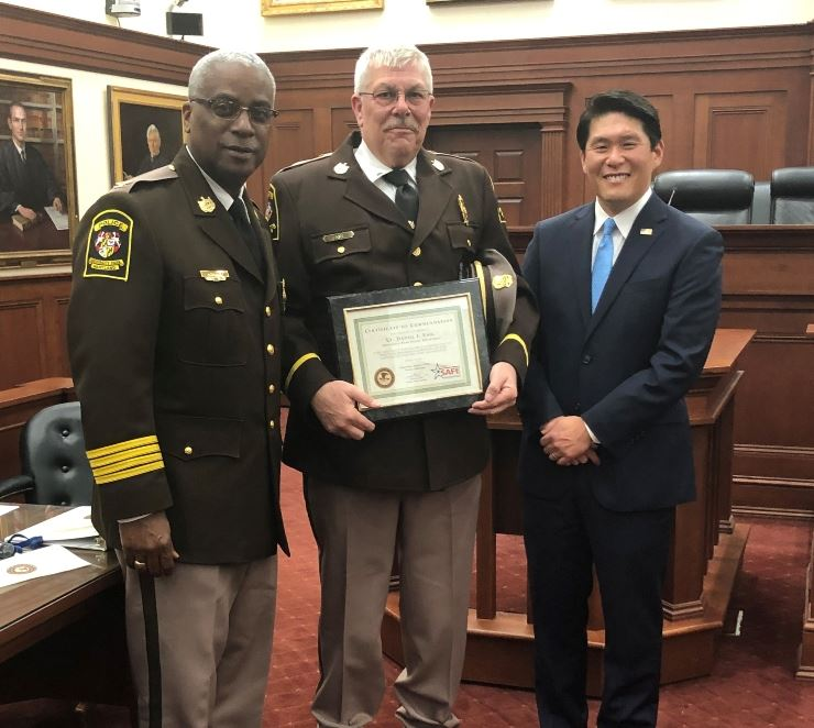 20.01.23 Enig Commendation Award Recognition with Chief Baker and US Attorney Robert K. Hur