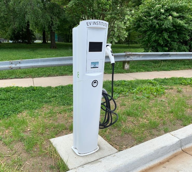 One Electric Vehicle Charging station