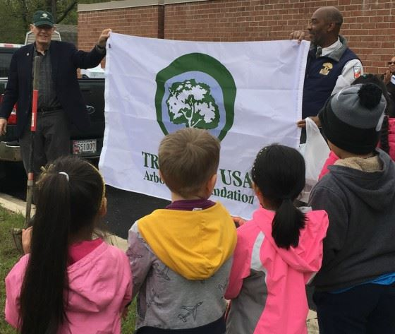 2018 Arbor Day Tree City USA Banner