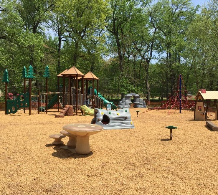 Finished Wells Parkway playground